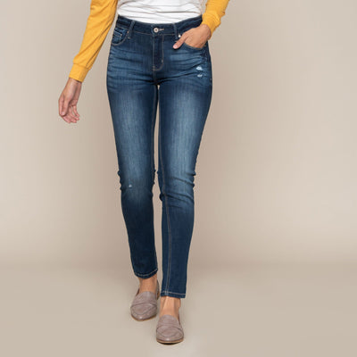 Light Distressed Skinny Jean by KanCan