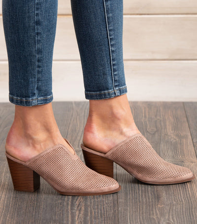 Prenton Perforated Mule