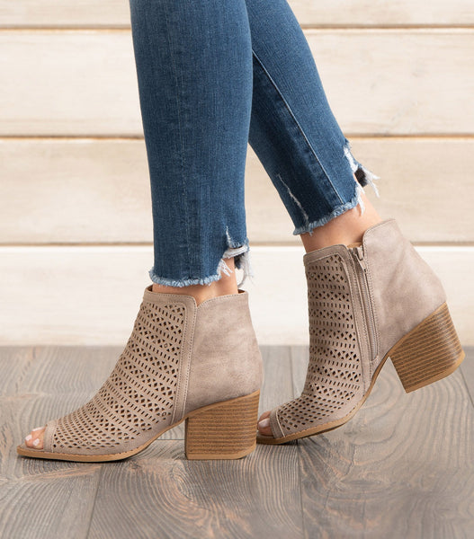 Core Open Toe Ankle Boot