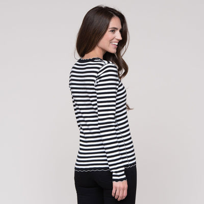 Scallop Stripe Sweater