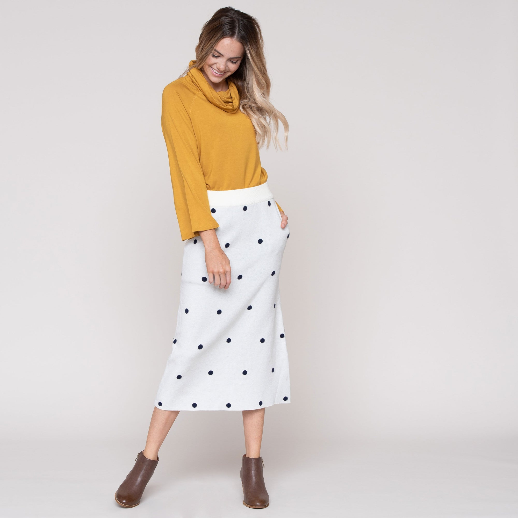 Polka Dot Sweater Skirt