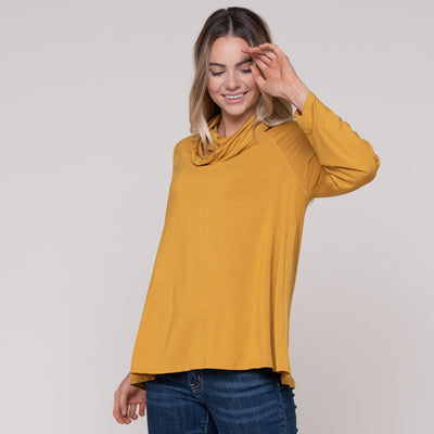 Signature Cowl Long Sleeve Tee