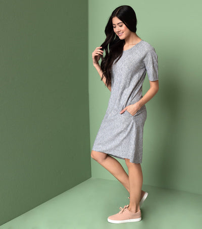 Drop Shoulder Shift Dress