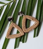 Woven Triangle Hoops