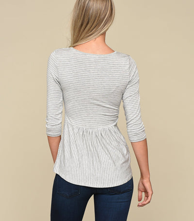 Stripe Peplum Back Top