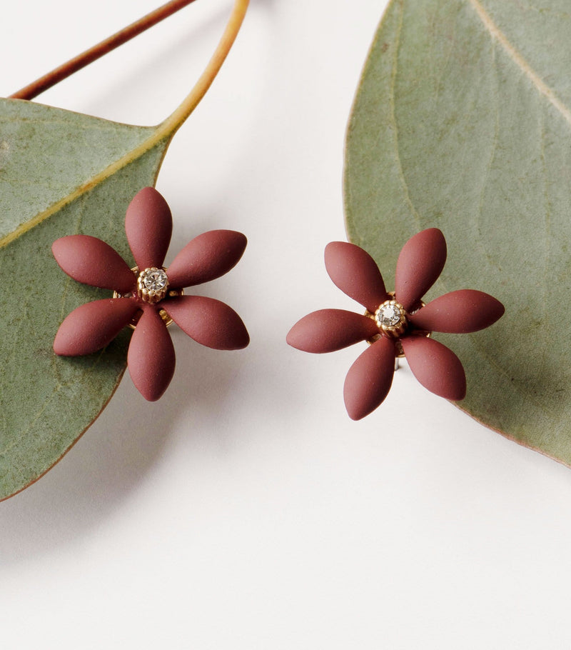 Burgundy Bloom Earrings