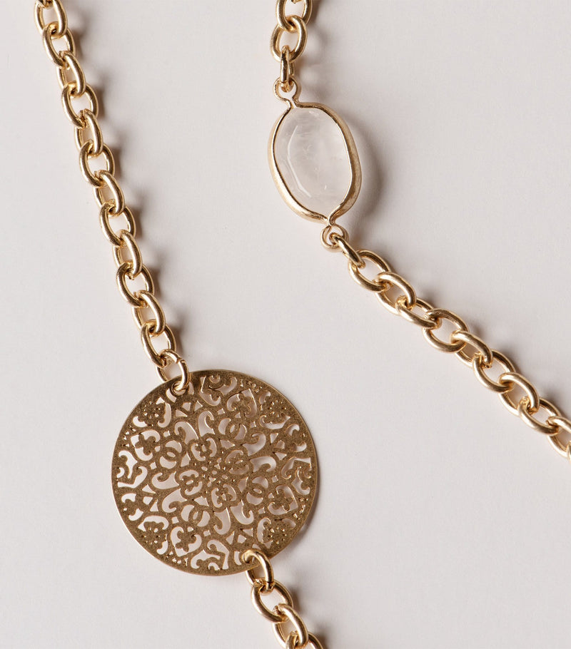 Filigree & Stone Necklace
