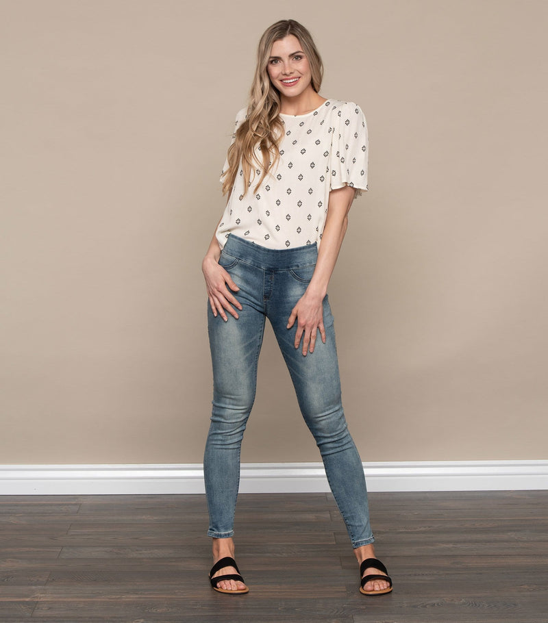Medallion Print Top