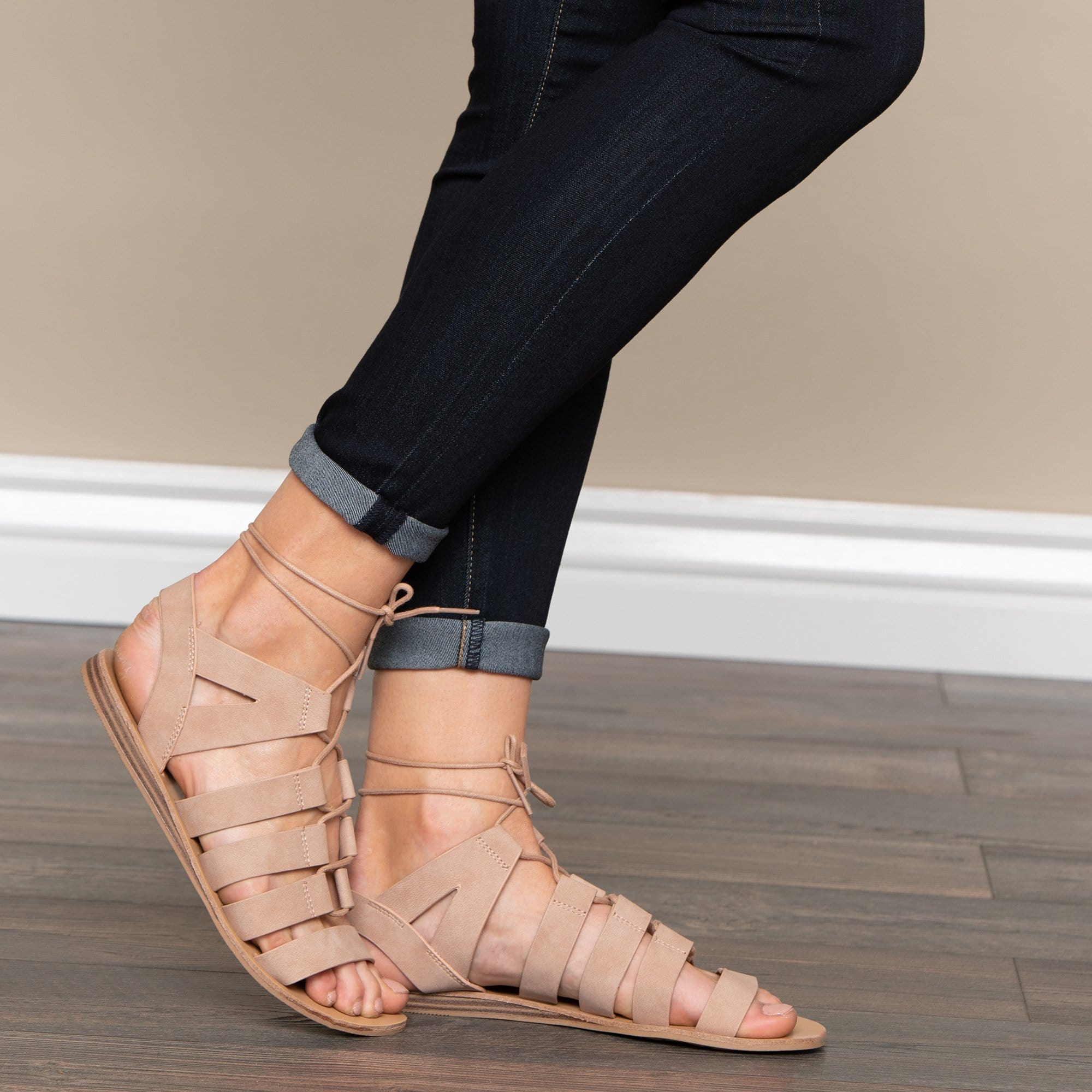 Autumn Lace Up Sandal