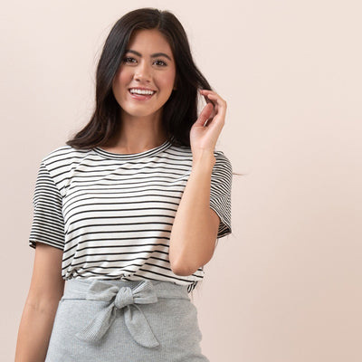 Mixed Stripe Tee