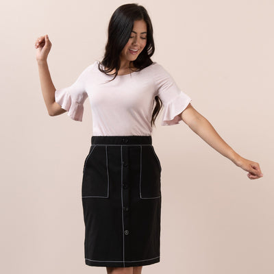 Contrast Stitch Skirt