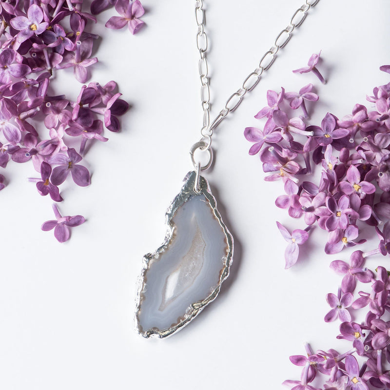 Geode Charm Necklace