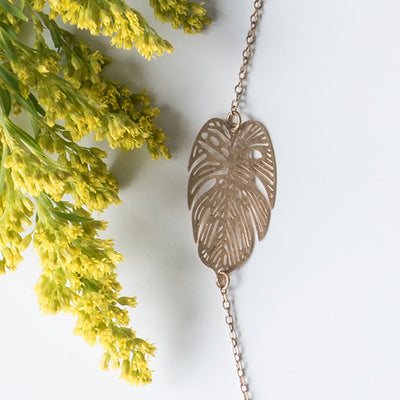 Feather Silhouette Necklace