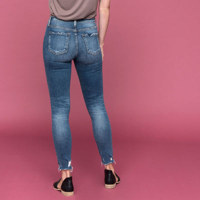 Distressed Ankle Jean by Flying Monkey
