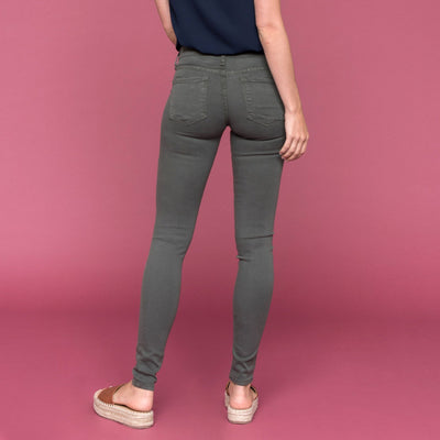Dark Olive Skinny Jean by Flying Monkey