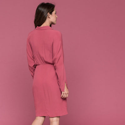 Dolman Sleeve Drawstring Dress