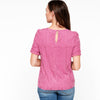 Shirred Sleeve Lace Top