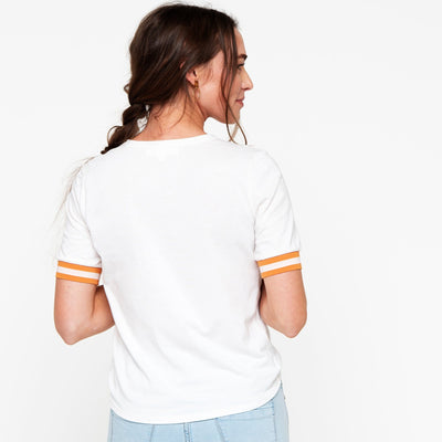 Stripe Trim Tee