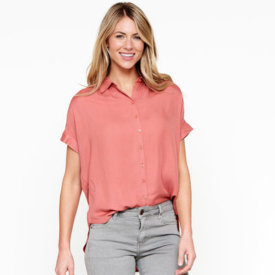 Gathered Shoulder Top