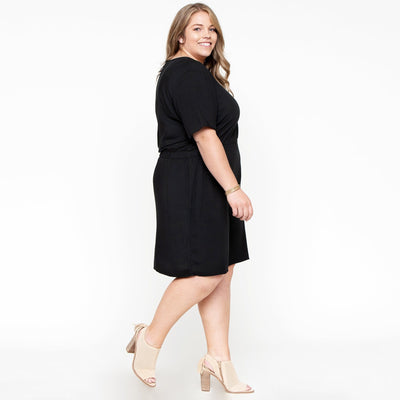 Elastic Waist Day Dress
