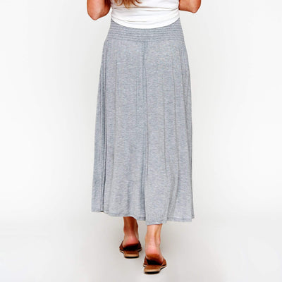 Smocked Waist High/Low Skirt