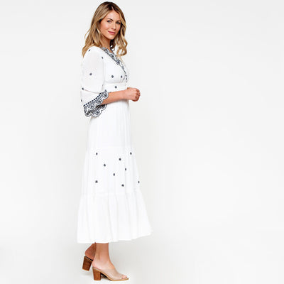 Laurel Embroidered Dress