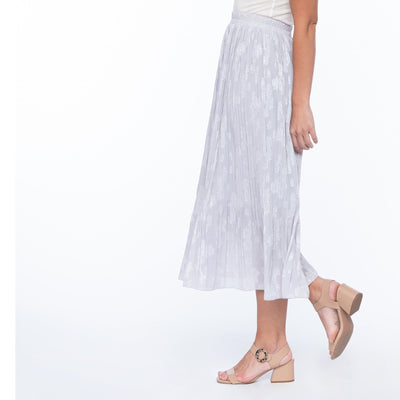 Lavender Pleated Skirt