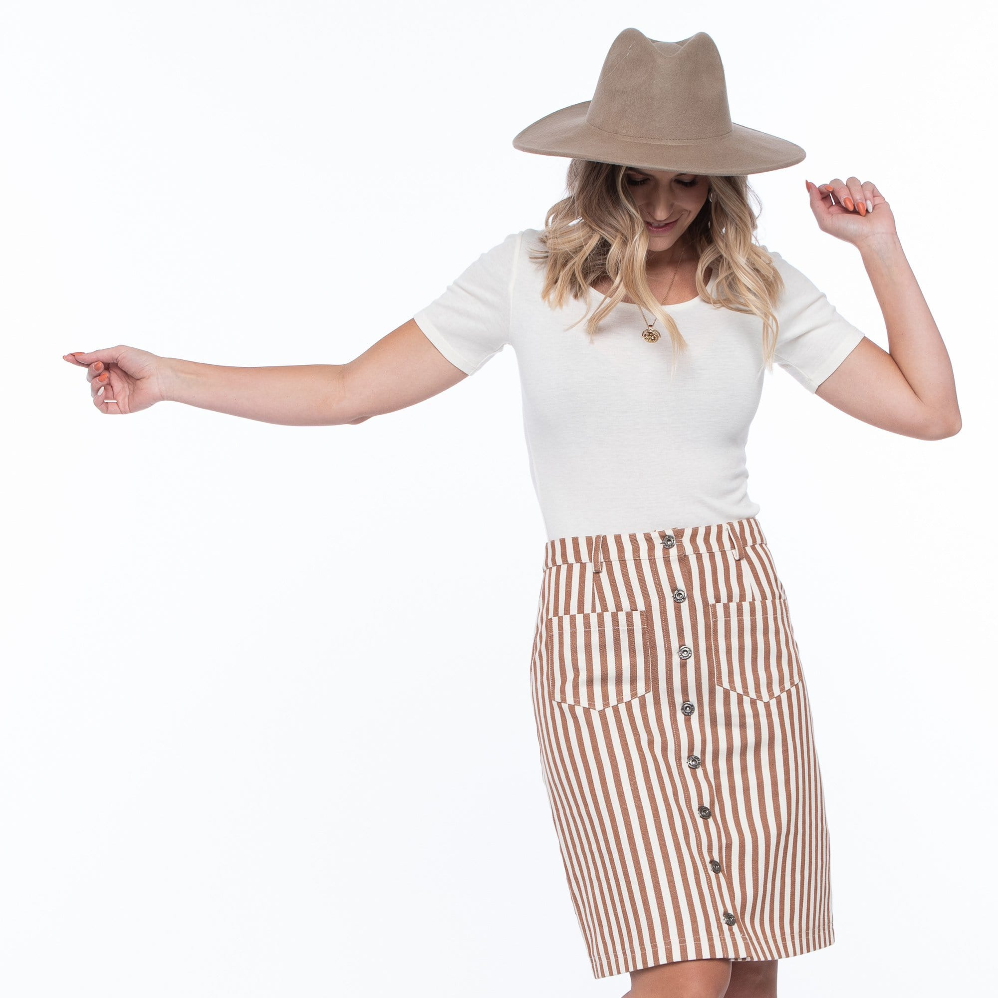 Elizabeth Stripe Skirt