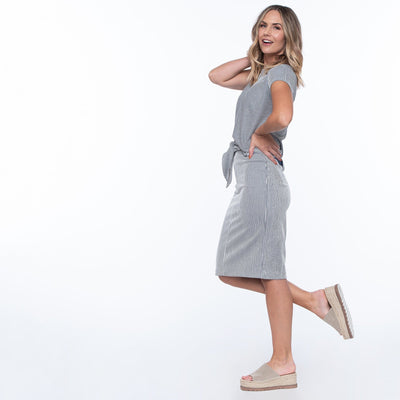 Tie Front Pencil Skirt
