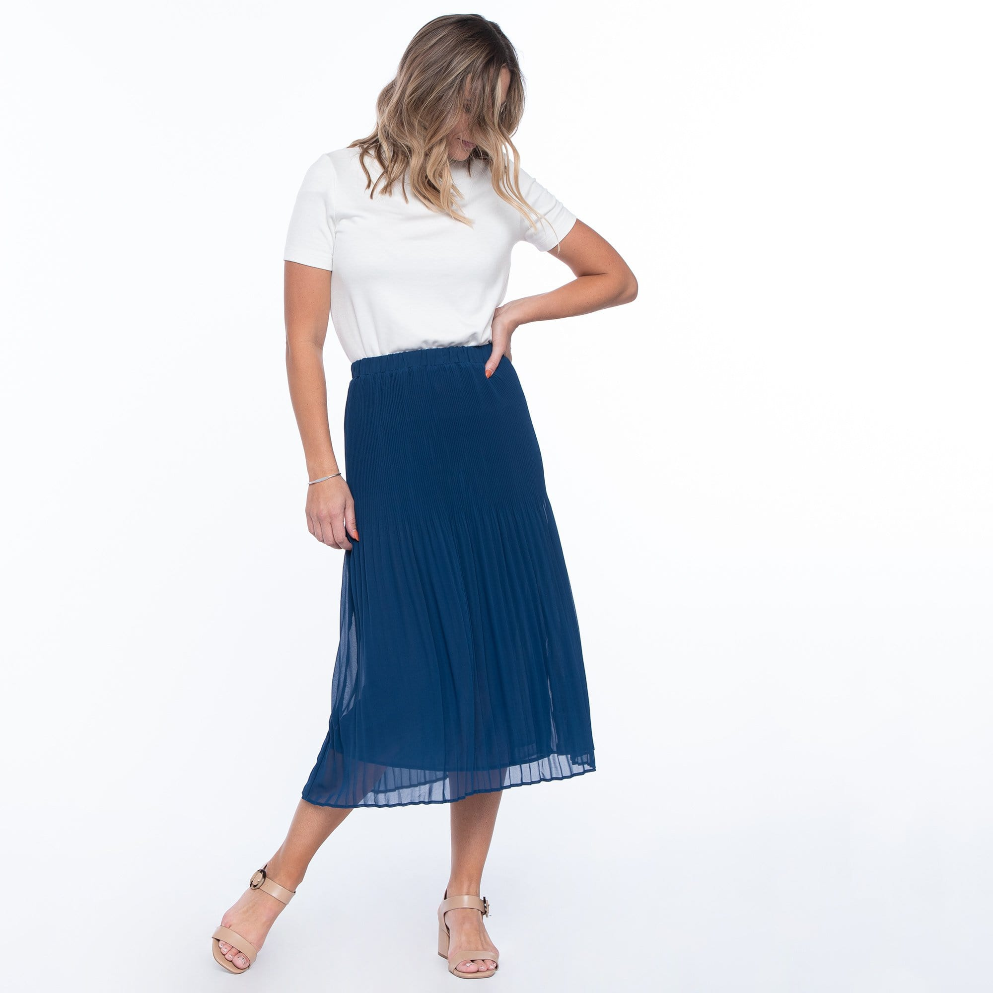 Graduated Pleated Skirt