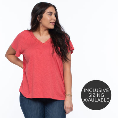 Lovely V-neck Tee