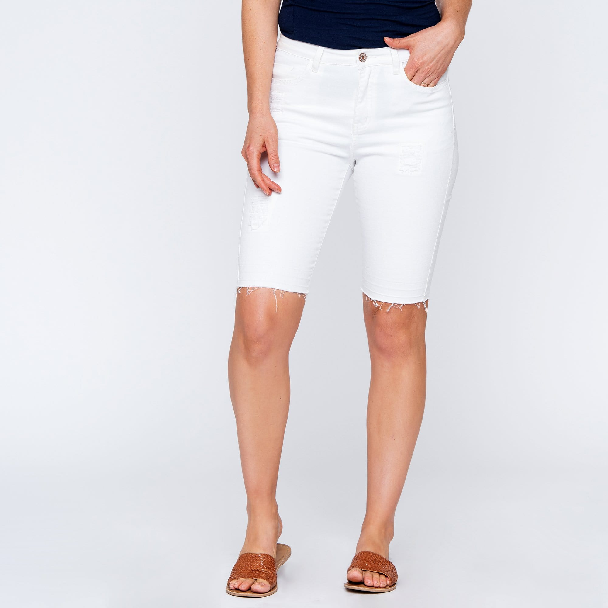 5 Pocket White Short
