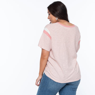 Color-Block Ringer Tee