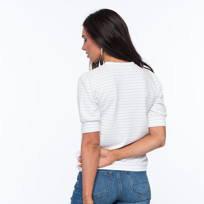 Texture Short Sleeve Top
