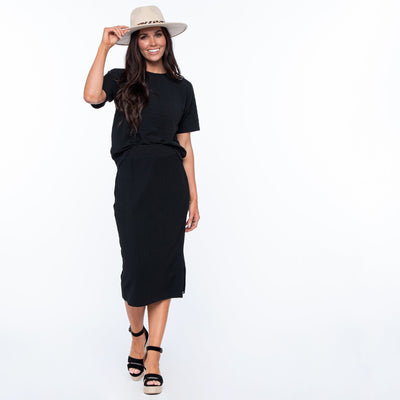 Slit Side Pencil Skirt