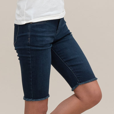 Fringed Denim Short