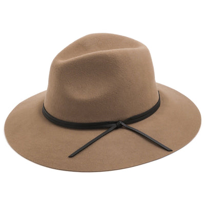 "3"" Wide Brim Wool Fedora"