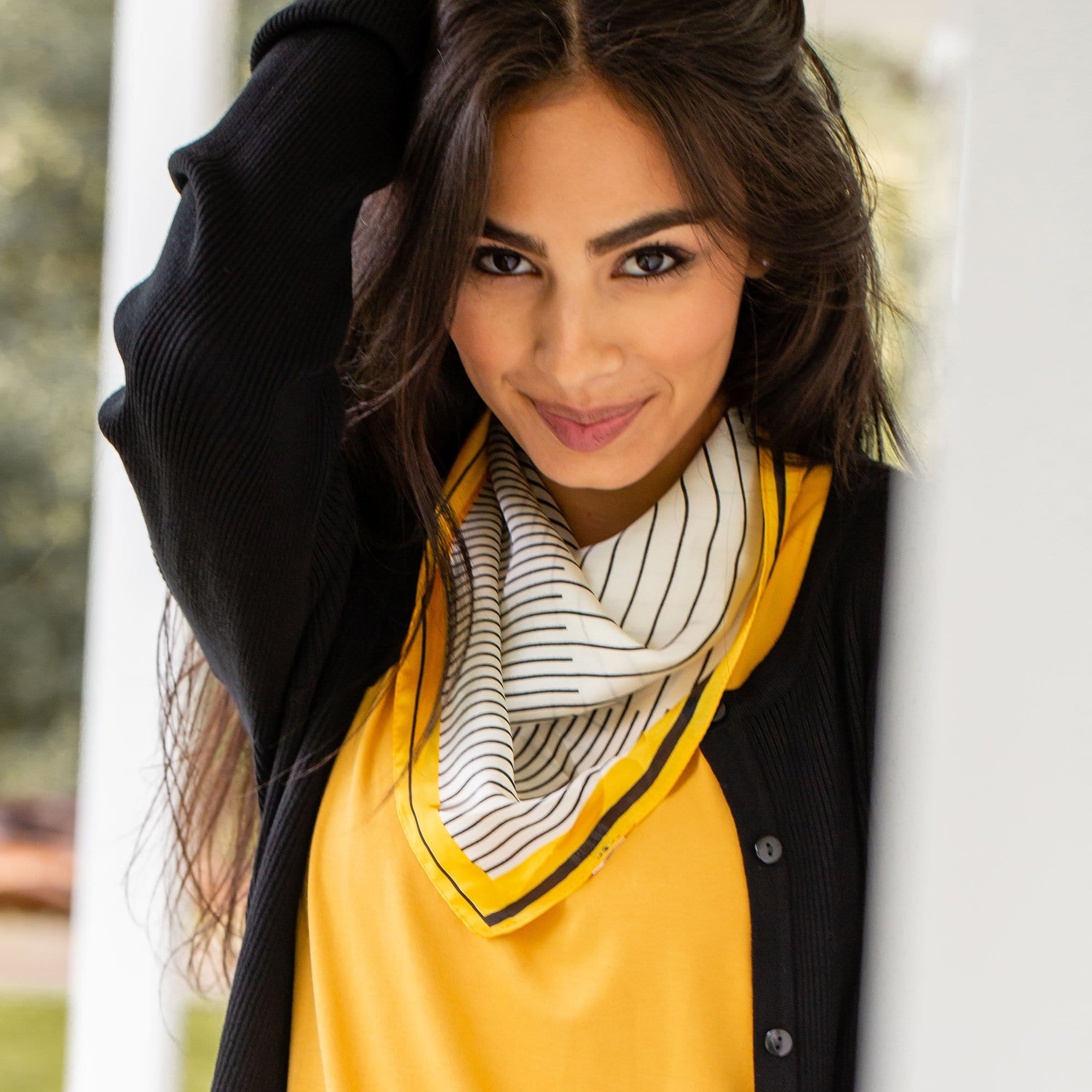 Black & Yellow Line Scarf
