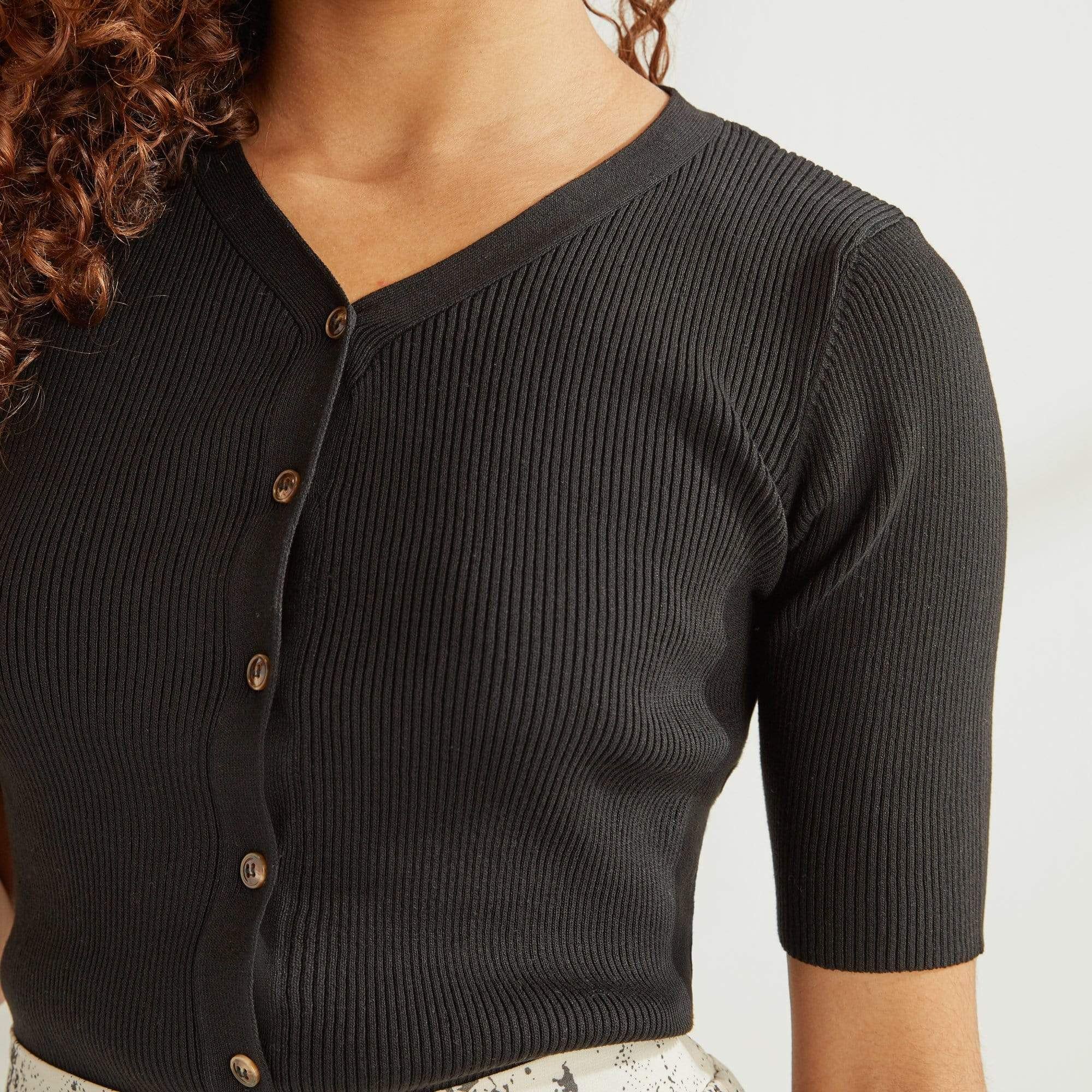 Button Up Rib Knit