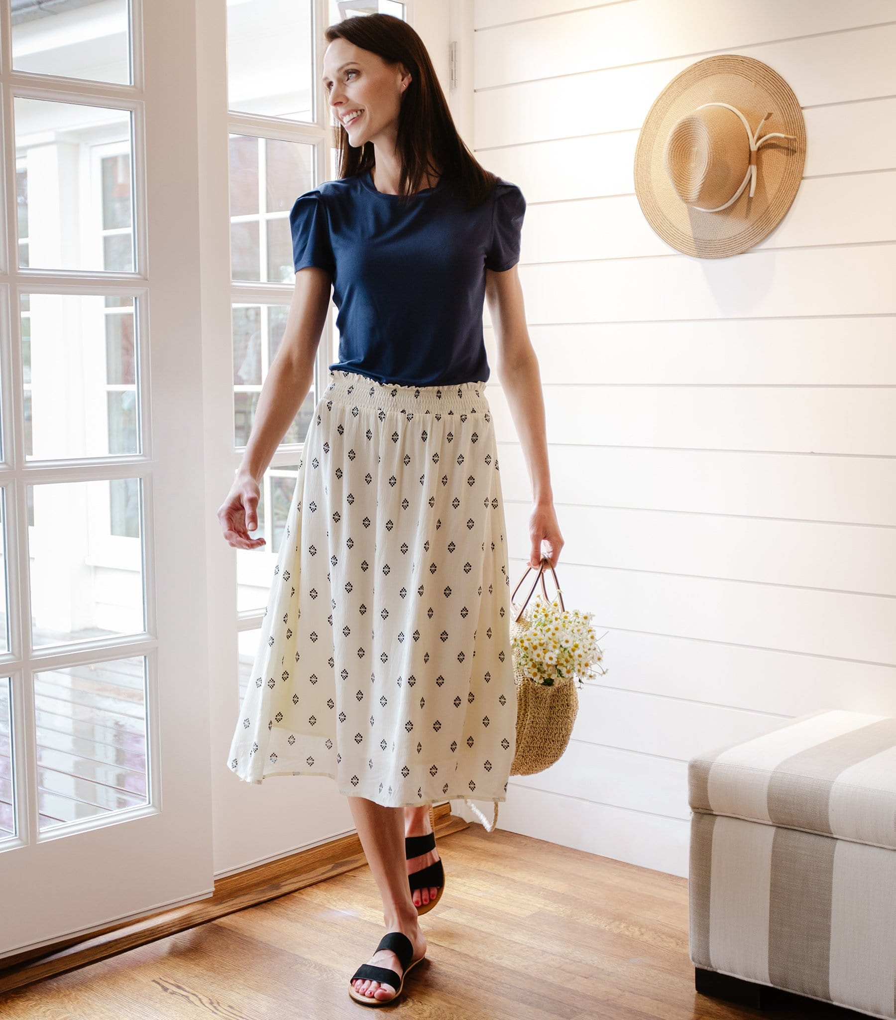 Medallion Print Skirt