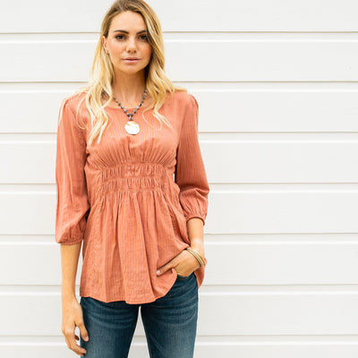 Center Smocked Top