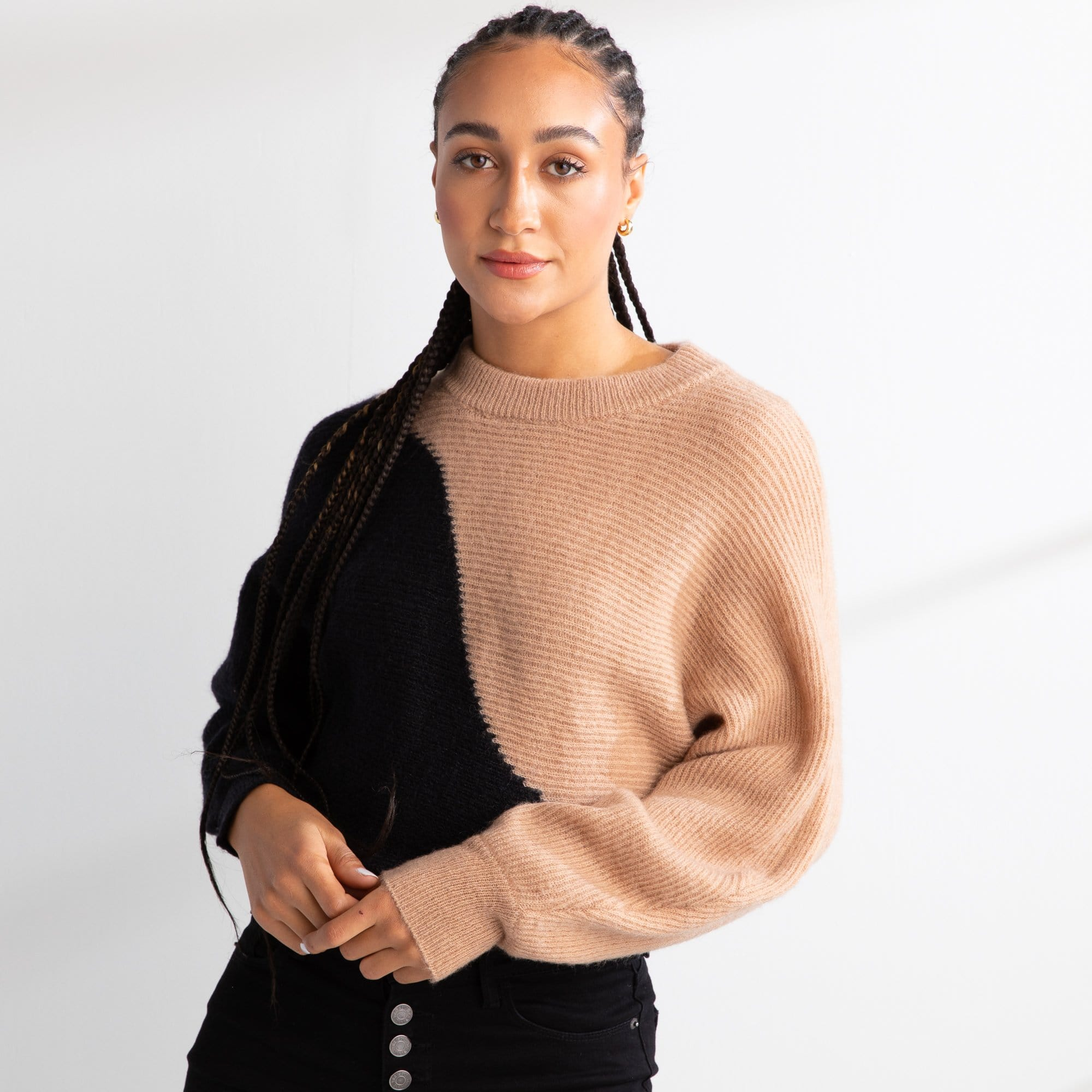 Color Block Wave Sweater