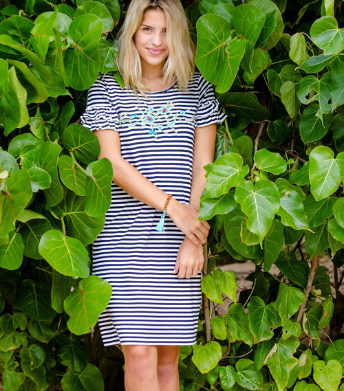Garden Stripe Dress