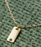 Tag You're It Birthstone Pendant - December