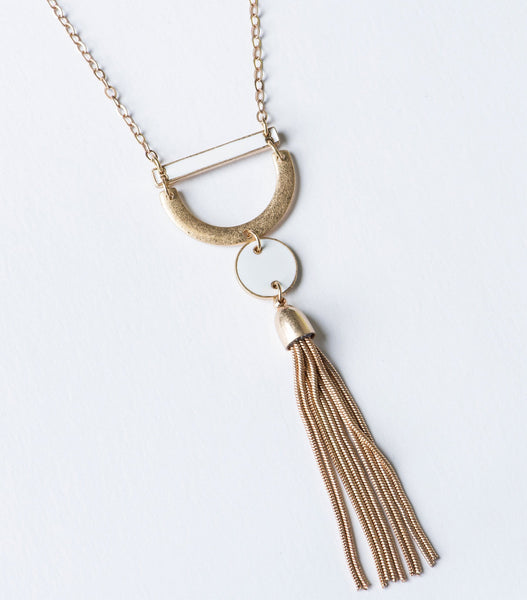 Enamel Tassel Necklace