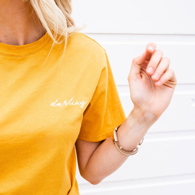Darling Embroidered Tee