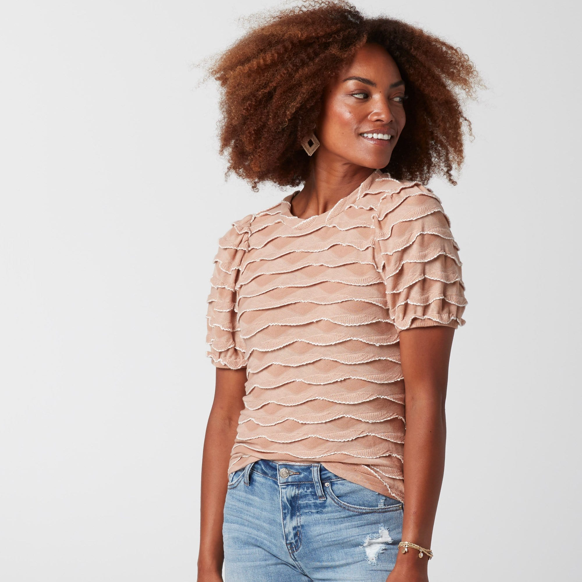 Ruffle Stripe Top