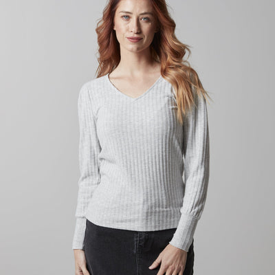 Soft Rib V neck Sweater