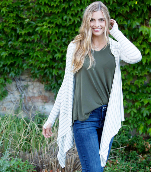 Hooded Waterfall Front Cardi
