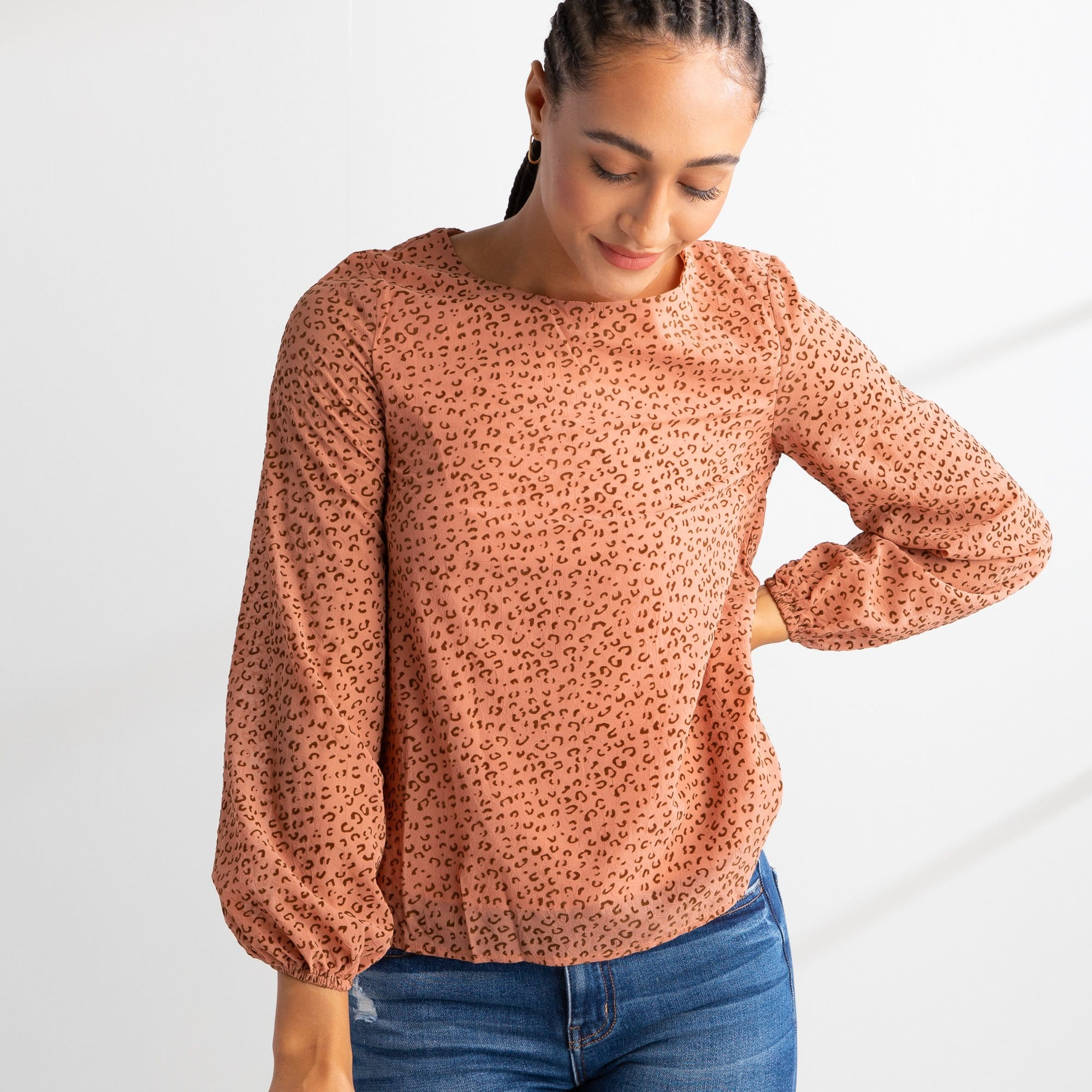 Farah Flocked Top